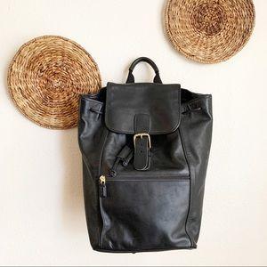 Coach | 0529 Unisex Black Leather Backpack